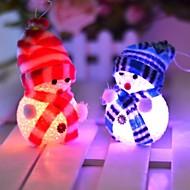 abordables Adornos de Navidad-10 * 6cm electrónica llevó navidad muñeco de nieve