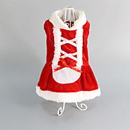Kat Hond Jurken Hondenkleding Bruiloft Kerstmis Rood Kostuum Voor huisdieren