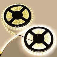 abordables Tiras de Luces LED-10m Tiras LED Flexibles 600LED LED 5050 SMD Blanco Impermeable / Cortable / Conectable 12 V 2pcs / IP65 / Adecuadas para Vehículos / Auto-Adhesivas
