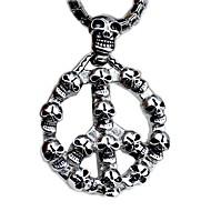hombre esqueleto de acero collar de titanio de la moda