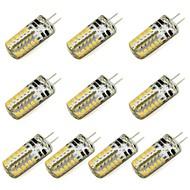 お買い得  LED スポットライト-10個 3 W 260 lm G4 LED2本ピン電球 48 LEDビーズ SMD 3014 温白色 / クールホワイト 12 V / # / RoHs