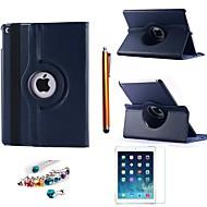 abordables Liquidación-Funda Para iPad Air 2 con Soporte Rotación 360º Funda de Cuerpo Entero Un Color Cuero de PU para iPad Air 2