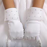 satin håndled længde handske blomst pige handsker klassisk feminin stil