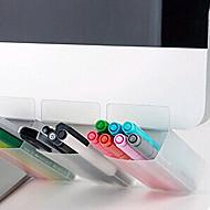 abordables Manualidades para Álbumes de Fotos-monitor de la computadora taquilla de almacenamiento organizador de escritorio envase de la pluma portátil para una sola entrada