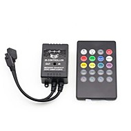 20 teclas de música del mando a distancia IR para RGB LED luz de tira (3x2a 12v)