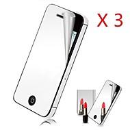 Недорогие Защитные плёнки для экрана iPhone-Защитная плёнка для экрана Apple для iPhone 6s iPhone 6 3 ед. Защитная пленка для экрана Зеркальная поверхность