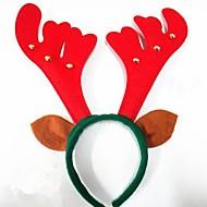 お買い得  クリスマスデコレーション-鐘ヘアヘッドバンドとのクリスマスパーティーかわいい鹿の枝角の帽子