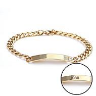 abordables Regalos Personalizados-pulsera de regalo personalizado de acero inoxidable de la joyería grabado