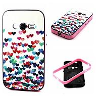 Для Кейс для  Samsung Galaxy Защита от удара / С узором Кейс для Задняя крышка Кейс для С сердцем TPU Samsung Ace 4