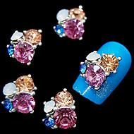 10pcs glitter 3d λουλούδι rhinestone DIY εξαρτήματα από κράμα νυχιών τέχνη διακόσμησης