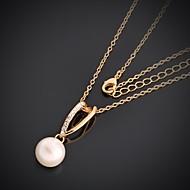 Ожерелье Ожерелья с подвесками Бижутерия Желтое золото Позолота Для вечеринок 1шт
