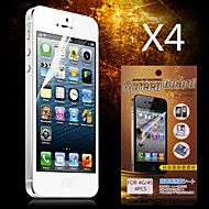 Недорогие Защитные плёнки для экрана iPhone-Защитная плёнка для экрана для Apple iPhone 6s / iPhone 6 4 ед. Защитная пленка для экрана HD