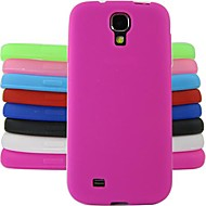 お買い得  携帯電話ケース-ケース 用途 Samsung Galaxy Samsung Galaxy ケース 耐衝撃 バックカバー ソリッド シリコーン のために S4