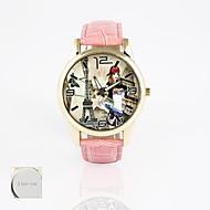 spersonalizowany prezent nowy styl zespół skóra pcv, druk tarcza kwarcowy zegarek unisexfashion