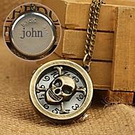 voordelige Gepersonaliseerde horloges-gepersonaliseerde gift legering gegraveerd zakhorloge met 78cm ketting