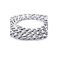 z&x® europäischen Stil 1,1 cm Breite Titan Stahl Herren Halskette