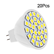 2W GU5.3(MR16) LED Spotlight 30 leds SMD 5050 Warm White Cold White 150-200lm 3500/6000K DC 12V