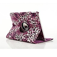 høy kvalitet PU lær leopard print spin full body sak for ipad luft 2 (assorterte farger)