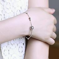 abordables Artículos para Celebración-pulsera de plata día de San Valentín con el temperamento de la moda femenina actuar el papel ofing dulce