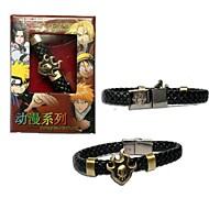 blegemiddel punk stil pu læder armbånd cosplay tilbehør