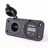 Steckdose mit DC 12V Digitalvoltmeter