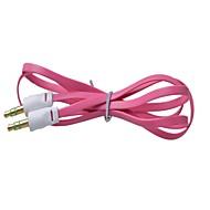 abordables Accesorios para Tablet y PC-3,5 mm macho a macho de color pequeños fideos tipo de cable de conexión de audio plana (1m) (colores surtidos)