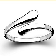Women's Band Ring Statement Ring Sterling Silver Love Basic Open Ring Jewelry Silver For Wedding Party Gift Daily Casual Adjustable