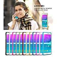 Для Samsung Galaxy Note Ультратонкий Кейс для Бампер Кейс для Один цвет Металл Samsung Note 4