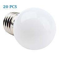 お買い得  LED ボール型電球-E26/E27 フィラメントタイプLED電球 12 SMD 3528 30 lm 温白色 クールホワイト 交流220から240 V 20個