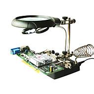 preiswerte Freizeit Hobbys-LED-Licht Lupe helfende Hand Hilfsklemme Krokodilklemme stehen PCB-Reparatur-Tools