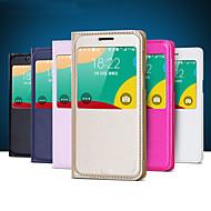 первоначальный экран виден искусственная кожа Смарт авто-сон для Samsung Galaxy e5