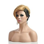 Hot Short Straight Part Wig Ladies' Synthetic Hair Mix Color