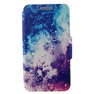 Для Кейс для  Samsung Galaxy Бумажник для карт / со стендом / Флип / С узором / Магнитный Кейс для Чехол Кейс для ПейзажИскусственная