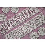 billige Kjøkken og matlaging-Four-C kake forsyninger snøre silikon mold preging matte for kake blonder, baking pad blonder matte dekorere verktøy fargen rosa