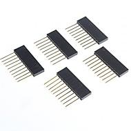 お買い得  Arduino 用アクセサリー-arduinoのための女性のピンヘッダに高品質の2.5ミリメートルピッチ10ピンのオス(5個)