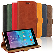 For Samsung Galaxy Note Card Holder / with Stand / Flip Case Full Body Case Solid Color PU Leather Samsung Note 4