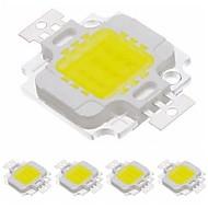 お買い得  -ZDM® 5個 900 lm LEDチップ アルミ / 純金ワイヤーLED DIY LEDフラッドライトスポットライト用 10 W