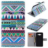 Недорогие Чехлы и кейсы для Galaxy А-Кейс для Назначение SSamsung Galaxy Кейс для  Samsung Galaxy Бумажник для карт со стендом Флип Магнитный С узором Чехол Полосы / волосы