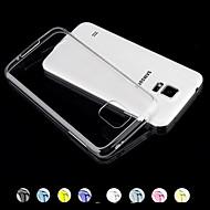 お買い得  Galaxy S5 ケース / カバー-ケース 用途 Samsung Galaxy Samsung Galaxy ケース クリア バックカバー 純色 PC のために S5