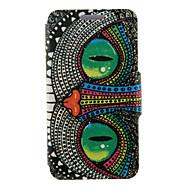 Недорогие Чехлы и кейсы для Galaxy S6 Edge Plus-Кейс для Назначение SSamsung Galaxy Кейс для  Samsung Galaxy со стендом / Флип Чехол Сова Кожа PU для S6 edge plus / S6 edge / S6