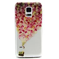 Mert Samsung Galaxy tok Átlátszó / Dombornyomott Case Hátlap Case Léggömb PC Samsung S5 Mini