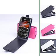 Para Funda Blackberry Flip Funda Cuerpo Entero Funda Un Color Dura Cuero Sintético para BlackBerry