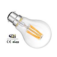 b22 ledフィラメント電球a60(a19)6コブ600lm暖かい白2800-3200k dimmable ac 220-240 ac 110-130v