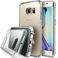 Недорогие Чехлы и кейсы для Galaxy S-Для Кейс для  Samsung Galaxy Прозрачный Кейс для Задняя крышка Кейс для Один цвет Акрил Samsung S6