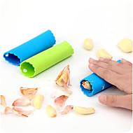 kreatív magic szilikon fokhagymát peeling gép (véletlenszerű szín)