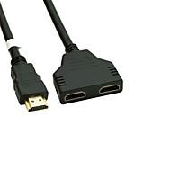 voordelige Dagaanbiedingen-vergulde HDMI v 1.4 man naar dual HDMI vrouwelijke adapter splitter kabel
