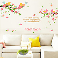 Cartoon Birds and Flowers PVC Wall Stickers Wall Art Decals