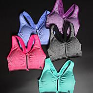 Damskie Bez rękawów Quick Dry Zdatny do noszenia Odporny na wstrząsy Biustonosze sportowe Topy na Joga Pilates Fitness Sport i rekreacja