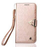 Для Кейс для  Samsung Galaxy Бумажник для карт / со стендом / Флип Кейс для Чехол Кейс для Один цвет Искусственная кожа SamsungS7 edge /