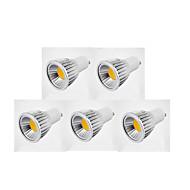 お買い得  LED スポットライト-5個 500lm GU10 LEDスポットライト MR16 1 LEDビーズ COB 調光可能 温白色 / クールホワイト / ナチュラルホワイト 85-265V / 110-130V / 220-240V